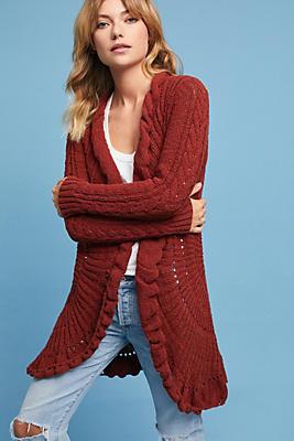 Slide View: 1: Circle-Knit Cardigan