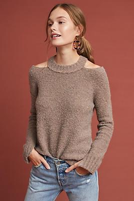 Slide View: 1: Cutout Sweater