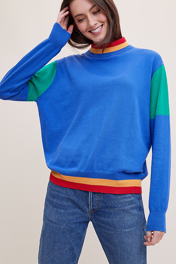 Moa Colourblock Jumper - A/s, Size M