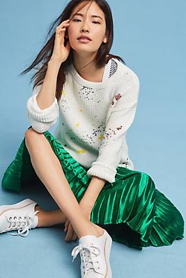 Slide View: 1: Paint Splatter Sweater
