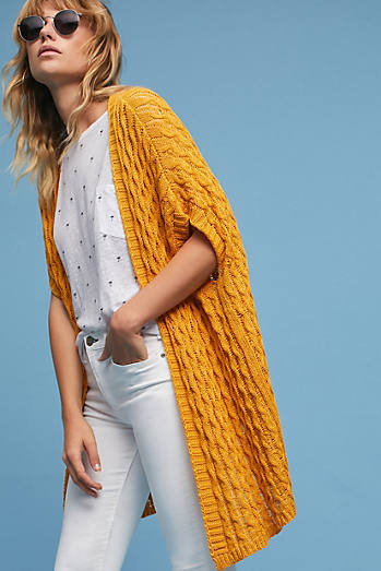 Open-Stitched Cardigan
