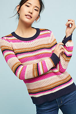 Slide View: 1: Cate Striped Sweater