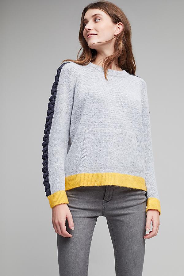 Aoife Scallop Sleeve Jumper - Grey, Size Uk 10