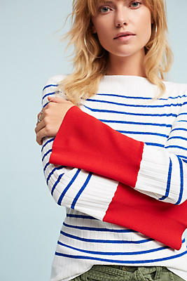 Slide View: 1: Cambridge Striped Sweater