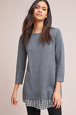 Slide View: 1: Pre-Layered Sweater Tunic