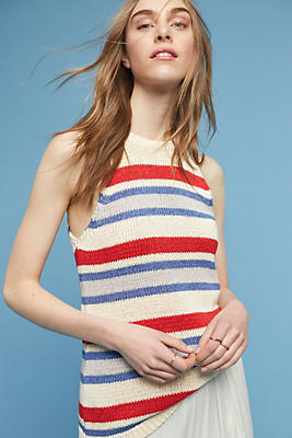 Slide View: 1: Ingrid Striped Sweater Tank