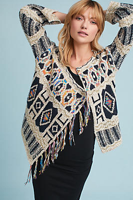 Slide View: 1: Spectra Fringed Cardigan