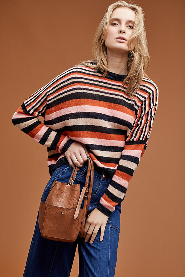 Maison Scotch Striped Wool Top - Assorted, Size S