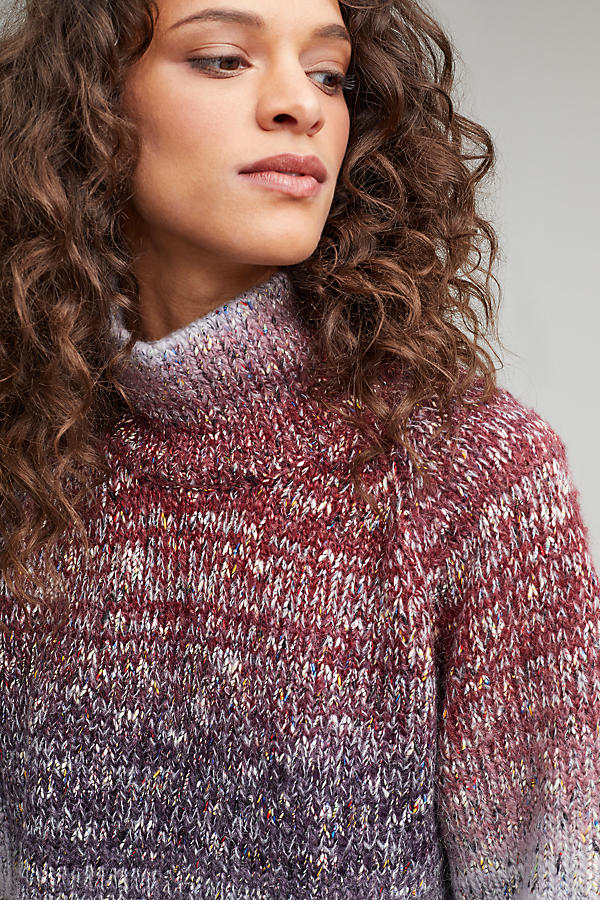 Slide View: 3: Pennie Ombre Roll Neck Jumper