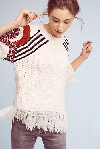 Sunset Fringed Pullover