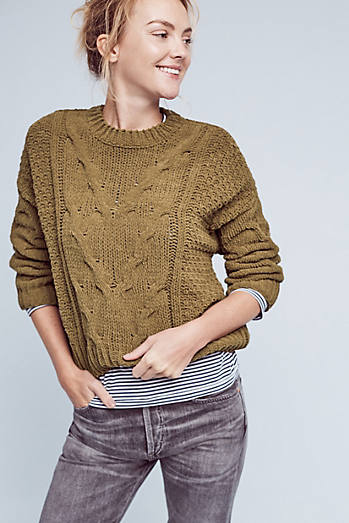 Cropped & Cabled Sweater