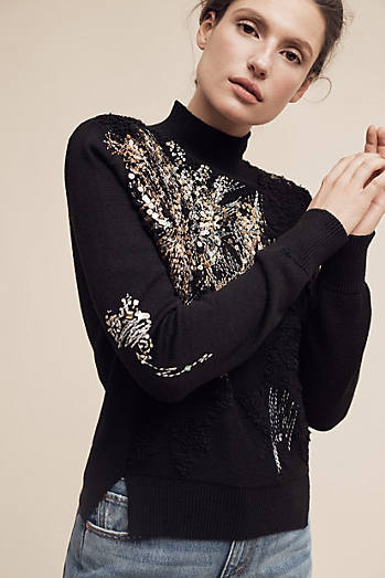 Beaded Fete Turtleneck