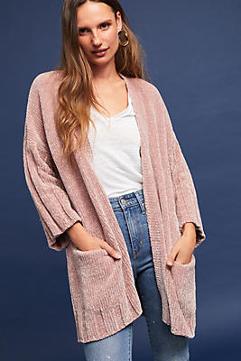Slide View: 1: Chenille Cardigan