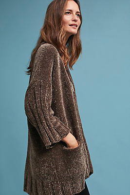 Slide View: 2: Chenille Cardigan