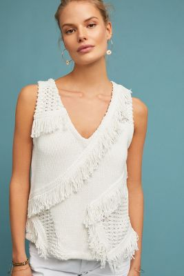 Pacific Fringed Tank by Anthropologie