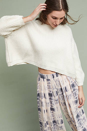Cropped Baja Pullover