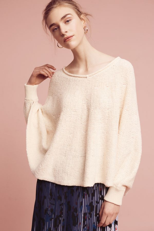 Moth Draped Poncho Pullover