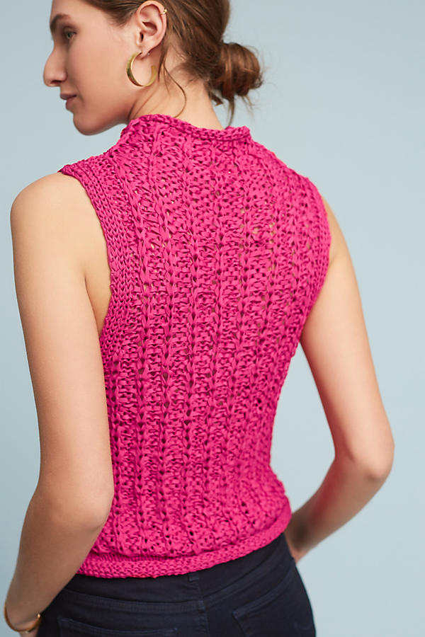 Slide View: 3: Cabled Knit Shell
