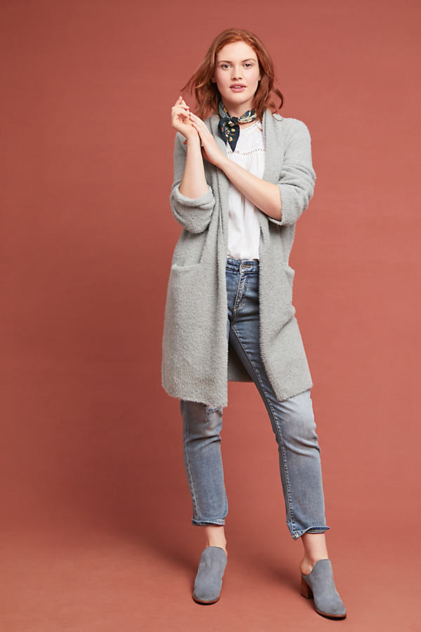 Thornton Longline Cardigan - Grey, Size M