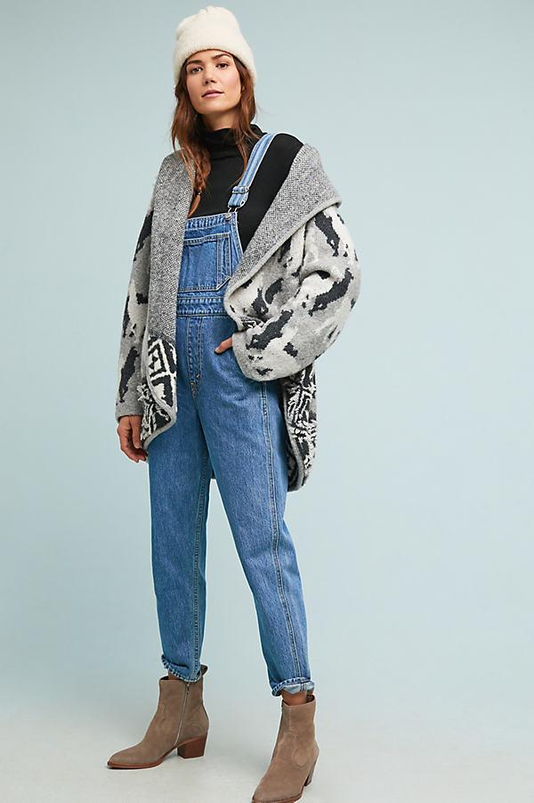 Alpaca Knit Cardigan - Grey, Size L
