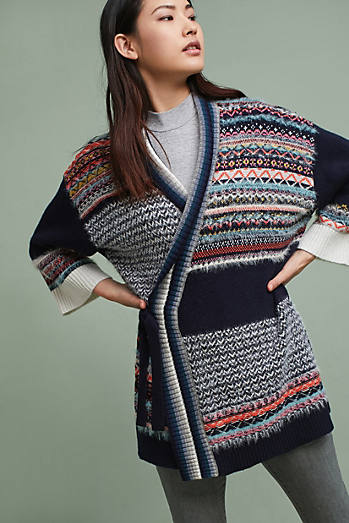 Mixed-Stitch Cardigan