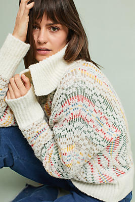 Slide View: 1: Chalet Jacquard Sweater