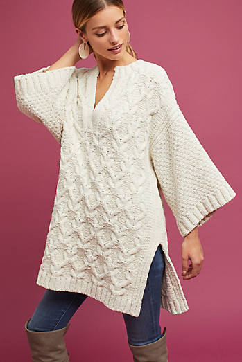 Knit Split-Neck Tunic