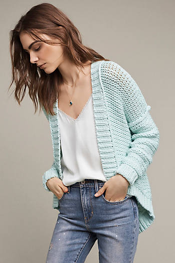 Classic High-Low Cardigan