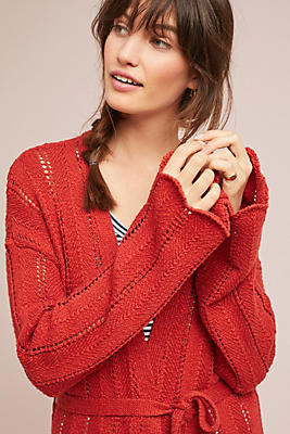 Slide View: 1: Priscilla Pointelle Cardigan