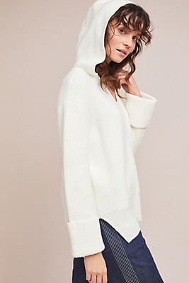Slide View: 1: Stitched Sweater Hoodie