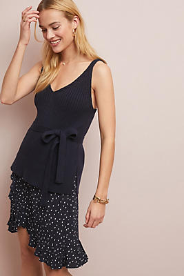 Slide View: 1: Belted Sweater Tank