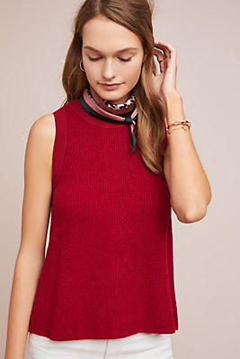 Slide View: 1: Buttoned Sweater Tank