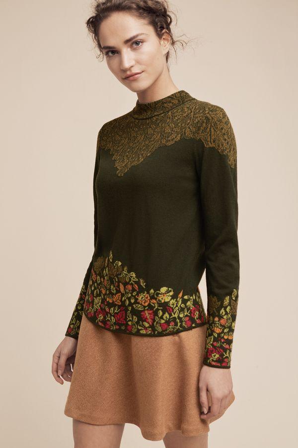 Ivko Intarsia-Bordered Pullover