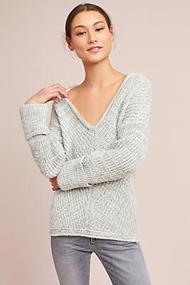 Slide View: 1: Cozy V-Neck Pullover