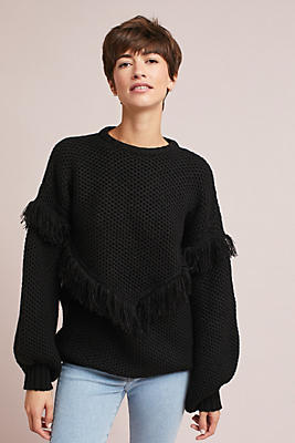 Slide View: 2: Andover Fringed Pullover