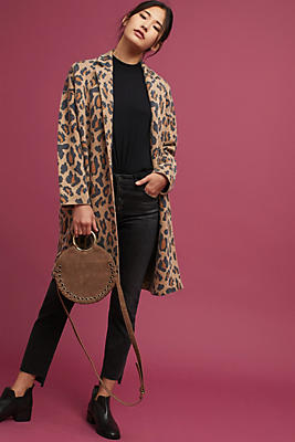 Slide View: 1: Cheetah Jacquard Jacket