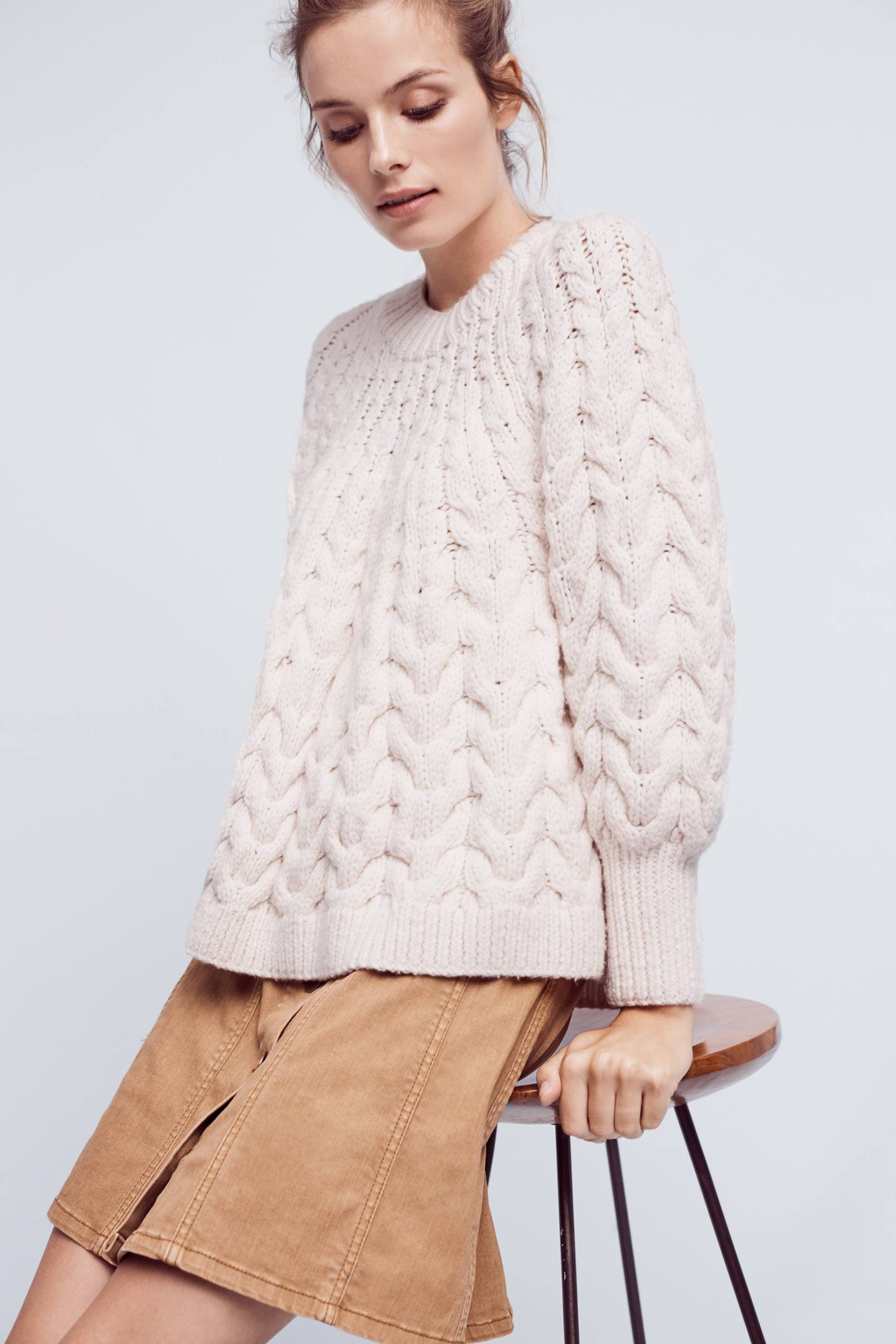 Hand-Knit Wool Pullover