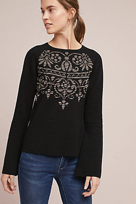 Slide View: 1: Lucy Jacquard Pullover