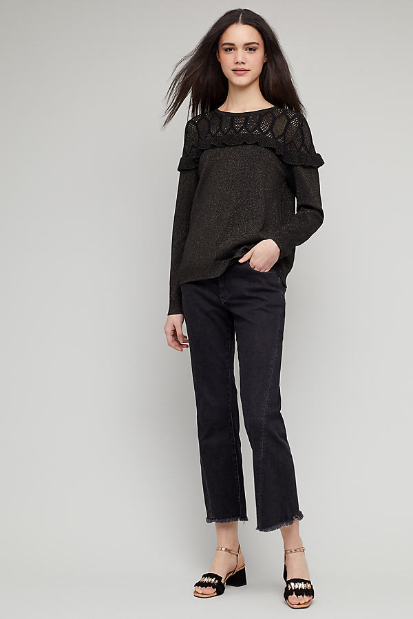 Yedda Ruffled Jumper - Black, Size Xs
