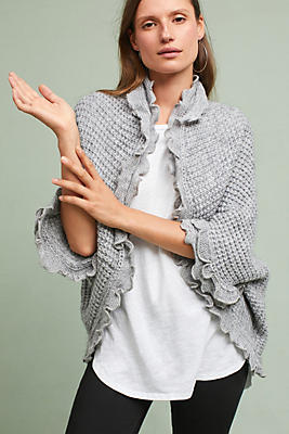 Slide View: 1: Rocia Ruffled Cardigan
