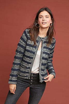 Slide View: 1: Madamoiselle Striped Jacket