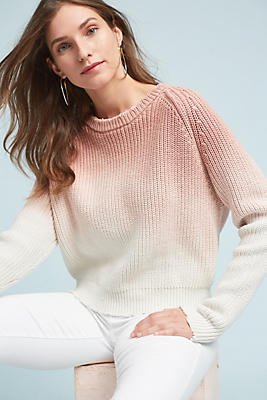 Slide View: 1: Dip-Dyed Pullover
