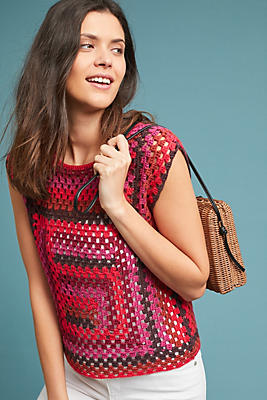 Slide View: 1: Roches Crocheted Tank