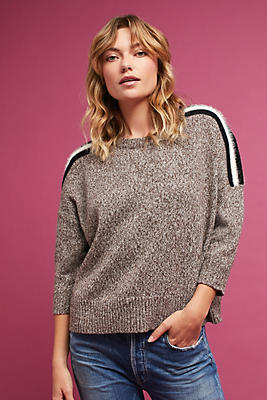 Slide View: 1: Morgan Striped Pullover