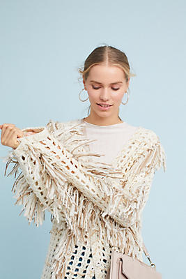Slide View: 1: Orna Fringed Sweater