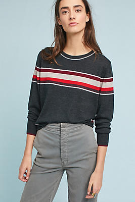 Slide View: 1: Royce Striped Pullover
