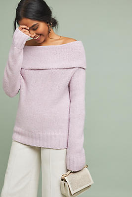 Slide View: 1: Natalia Off-The-Shoulder Sweater