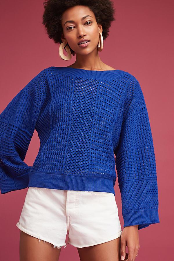 Reese Kimono Jumper, Blue - Blue, Size M