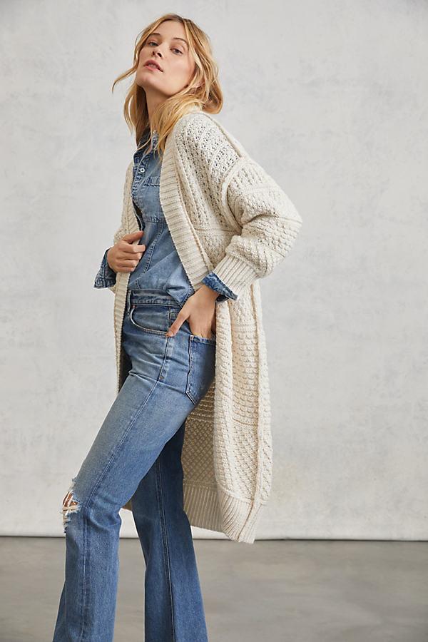 Selene Longline Open Knit Cardigan