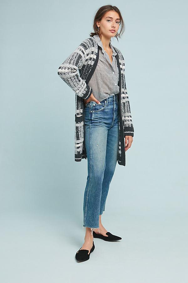 Freyja Plaid Sweater Coat - Grey, Size Xl